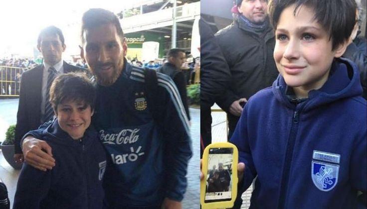 Messi le cumplió el sueño a un niño uruguayo: Luciano Viejo se metió corriendo para llegar a su ídolo, la seguridad lo sacó, pero el mismo…