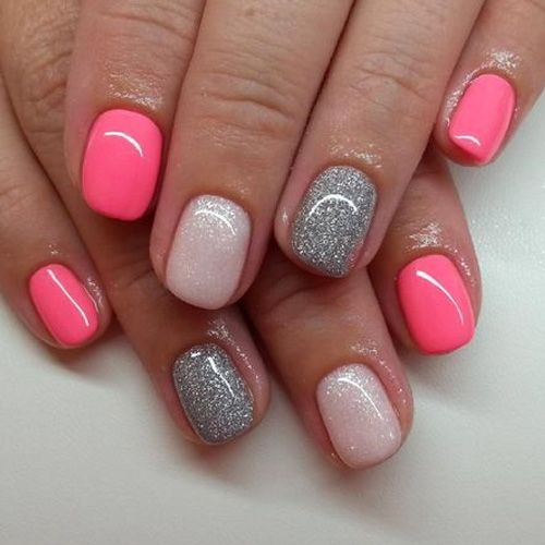 best 25 pretty gel nails ideas on pinterest gel nail color ideas summer shellac nails and. Black Bedroom Furniture Sets. Home Design Ideas