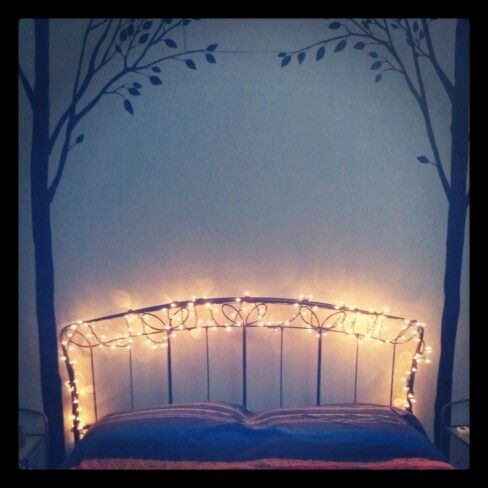 My bedroom #bedroom #fireflies #stringlights #roominspiration #string #lights #bedroom ...