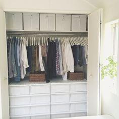 asamiさんの、DIY,整理収納部,断捨離,収納,クローゼット,IKEA,ベッド周り,のお部屋写真