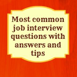 COMMON ANSWERS QUESTIONS INTERVIEW JOB AND