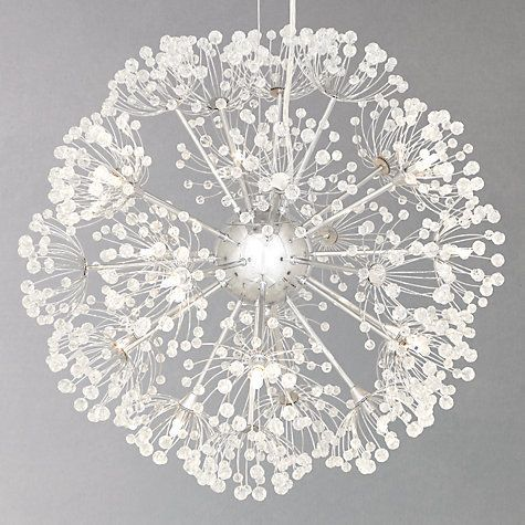 Alium light via John Lewis - Its like a dandelion. Imagining the breeze on a warm spring day catching it and it would seem as if it was floating