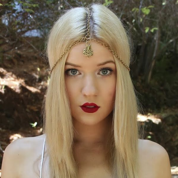 Rock a boho inspired headpiece with your #LipMonthly lips this season, like beauty guru Meghan Rosette!