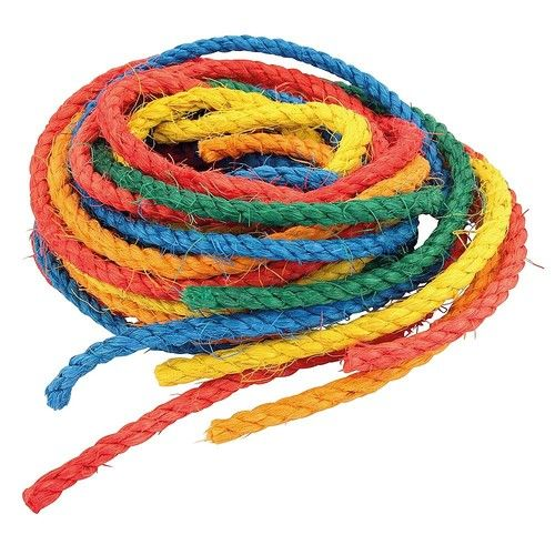 Coloured Sisal Ropes - Parrot Toy Making Parts - Pack of 6  These six Coloured Sisal Ropes are a superb way to for bird owners to refurbish toys or use with other toy making parts to build and create your own toys for your bird. The range of colours in this pack ensures that your bird's toys stay bright and interesting.