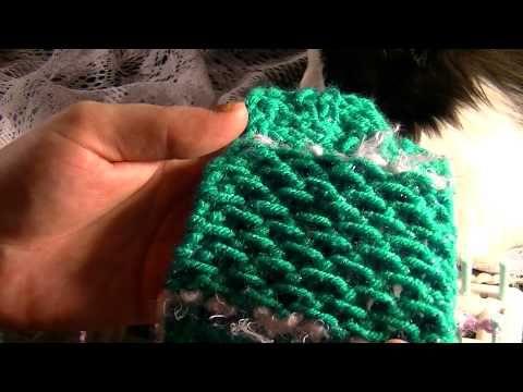 ▶ Loom Knitting - HONEY COMB STITCH - YouTube