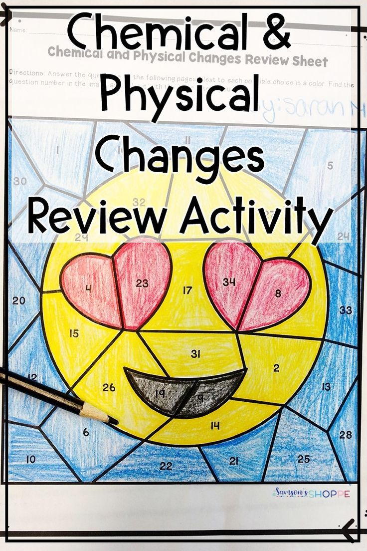 Chemical And Physical Changes Review Activity Chemical And Physical Changes Physical Science Lessons Physical And Chemical Properties