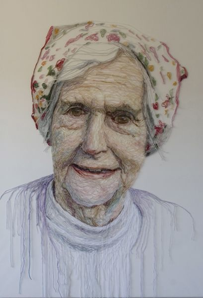 Mum with Flowery Head Scarf