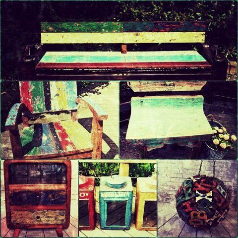 Amazing pieces for your garden for sale #punkituprecycledfurniture #teak #boat #vintagebythesea #upcycle #vintage #gardendesign #garden #vogueliving