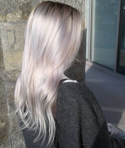 GlaMBarbiE my haircolor:  Pearly platinum blonde hair color
