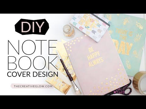 DIY Notebook Cover Design - Gold Leaf Designer Look - YouTube