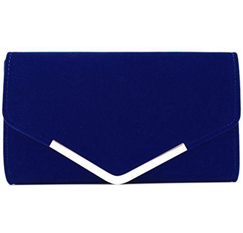 New Trending Clutch Bags: U-Story Womens Velvet Bridal Clutch Evening Prom Wedding Shoulder Chain Bag Handbag (Royal Blue). U-Story Womens Velvet Bridal Clutch Evening Prom Wedding Shoulder Chain Bag Handbag (Royal Blue)  Special Offer: $13.99  188 Reviews Specification: Material: Velvet Dimensions: 26*15*6cm (10.23*5.9*2.36inch) Open Method: Magnetic Snap Style: Clutch bag/Handbag/Shoulder chain bag/Purse...