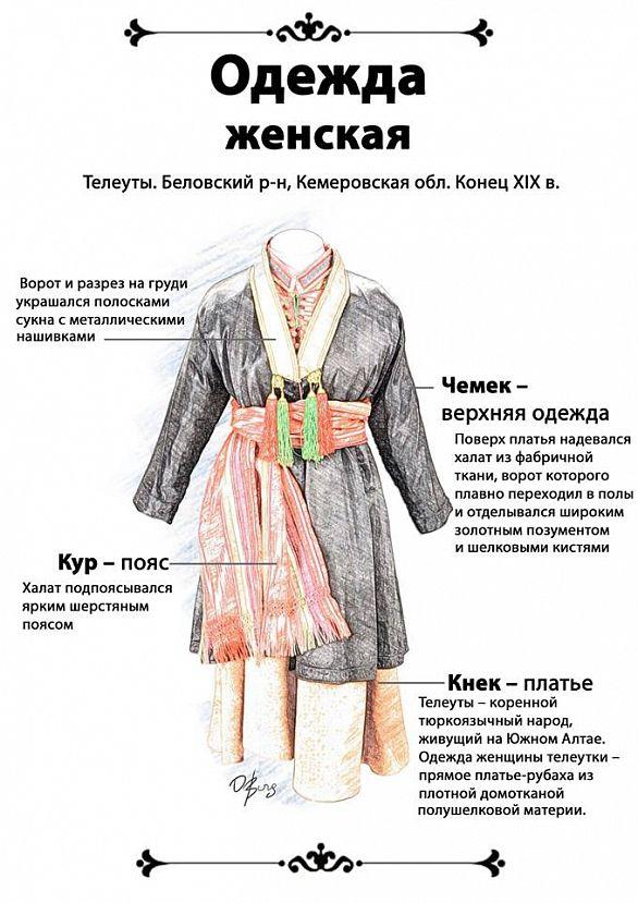 Национальный костюм Телеутов - Телеуты (самоназвание теленнет, тадар, байат-пачат) — тюркский коренной малочисленный народ в России, ведущий своё происхождение от тюркоязычного кочевого населения юга Западной Сибири.  https://ru.m.wikipedia.org/wiki/%D0%A2%D0%B5%D0%BB%D0%B5%D1%83%D1%82%D1%8B