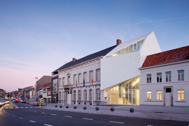 A very modern town hall for a very old town.