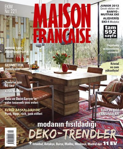 Maison Francaise October 2013 cover page