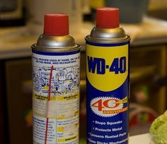 WD-40... apparently it fixes more than squeaky doors