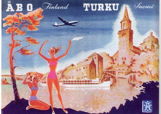 Turku, Finland - vintage travel postcard - www.cardfed.com