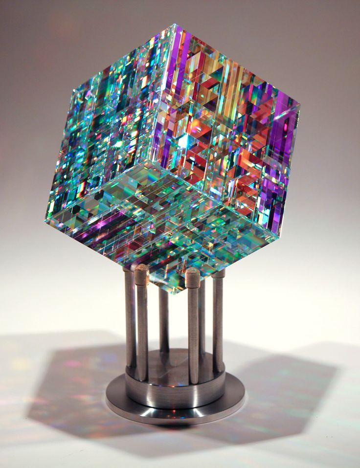 #glass #art - Chroma Cube by Jack Storms