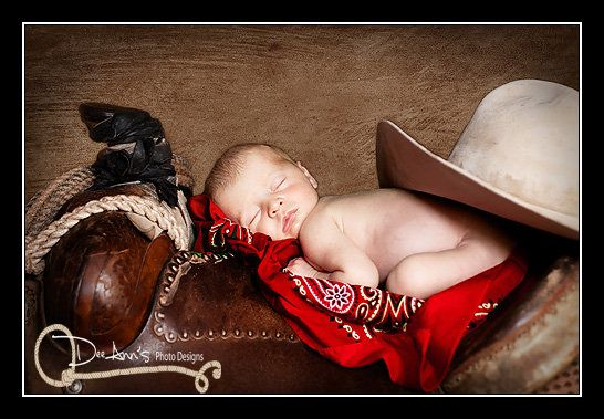 cute western newborn picture! now just need to find a cute way to do it for two toddler