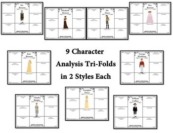best pride and prejudice analysis ideas jane  pride and prejudice by jane austen character plot analysis tri folds