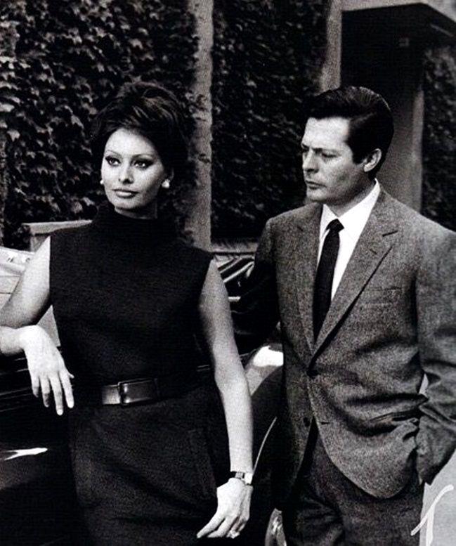 fuckindiva: Sophia Loren and Marcello Mastroianni in Ieri, Oggi, Domani, 1963