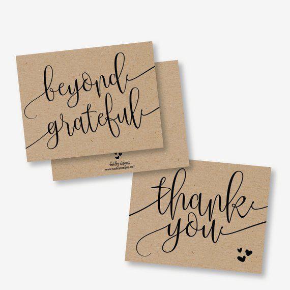 Generic Kraft Thank You Card Template Diy Thank You Card