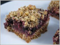 Blueberry Oat Bars , one of my favorite foods!