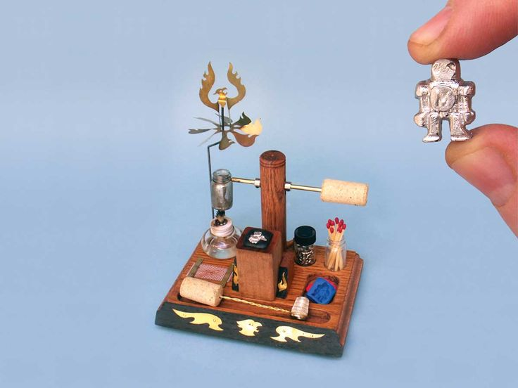 Desktop Foundry- That's right, makezine.com has instructions for making your own miniature foundry! Then you can design and build your own tiny sewer grates and whatnot!