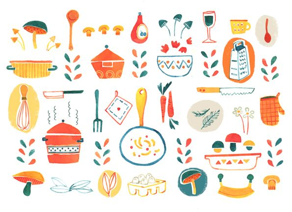 pattern cucina by Susanna Rumiz, via Behance