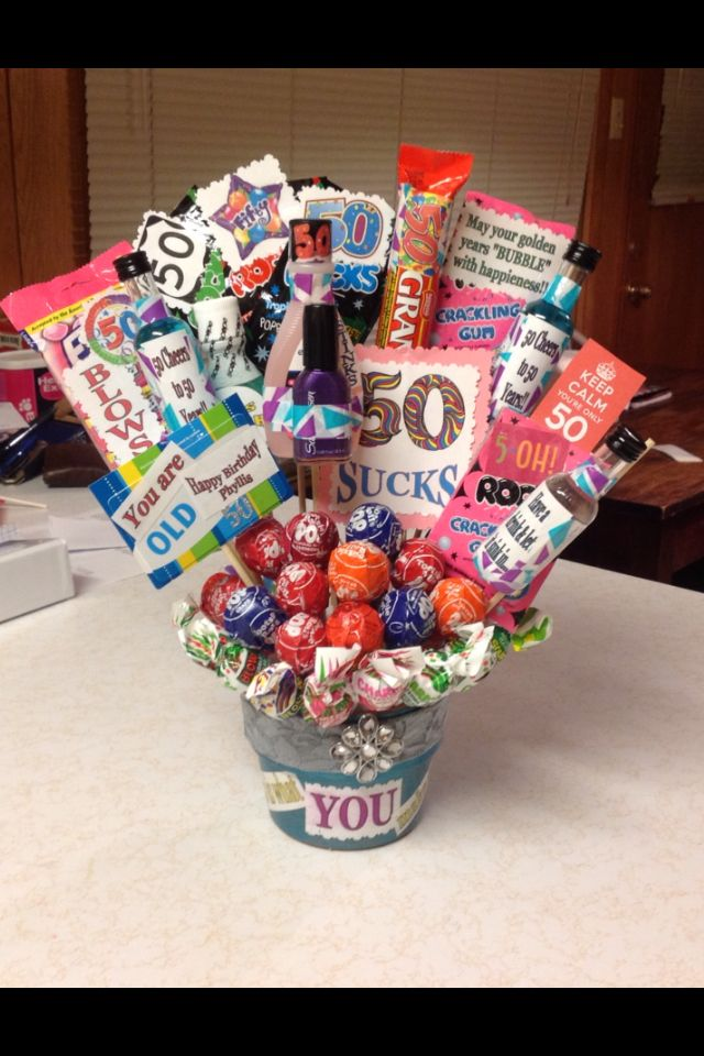 Fill A Bucket With Items That Were Created During The Era Or Year They Born 50 Birthday Ideas Presents