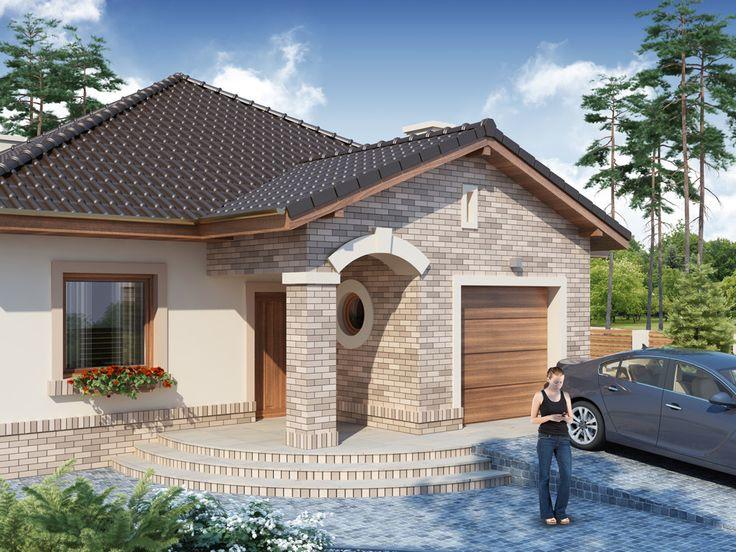 Proiect de casa eleganta doar cu parter si garaj