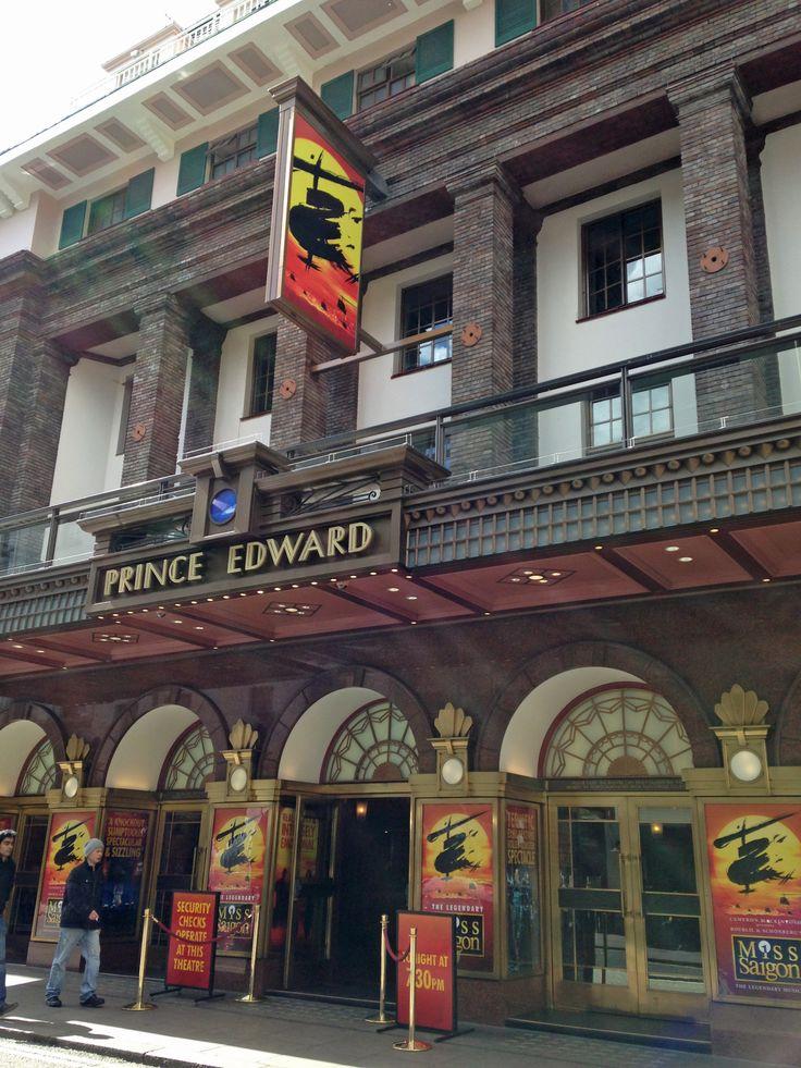 Prince Edward Theatre, London http://www.delfontmackintosh.co.uk/Theatres/prince_edward_theatre.asp