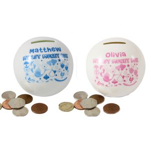 personalised money boxes for children, kids money box