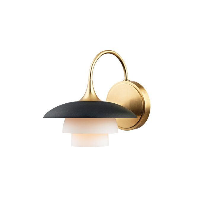Modern tulip tiered sconce