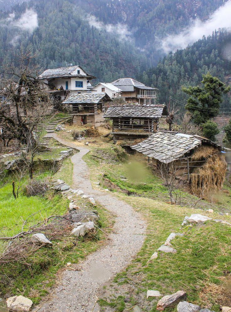 Kuthachal Village, Gushaini, Himachal Pradesh, India