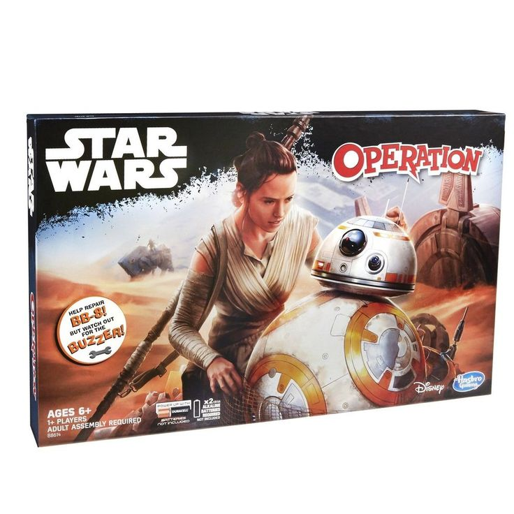 Hasbro Classic Operation Game Star Wars Edition BB-8 FREE BATTERIES