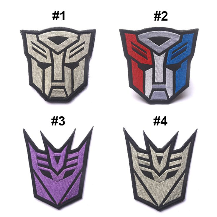 Decepticon Transformers AIRSOFT Tactical EMBROIDERED HOOK&LOOP PATCH GRAY
