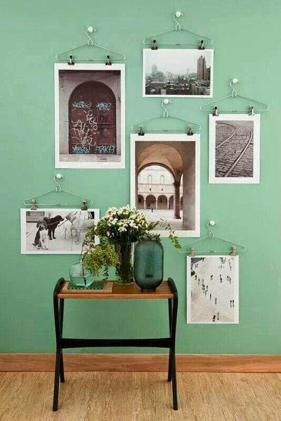 Las 25 mejores ideas sobre colgar cuadros en pinterest y - Enmarcar sin marco ...