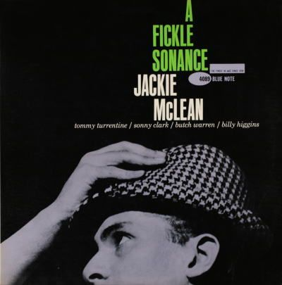 """""""A Fickle Romance"""" - Jackie McLean  Cover design by Reid Miles  Photo by Francis Wolff"""
