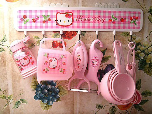 #Hello Kitty Kitchen Things - for my niece.