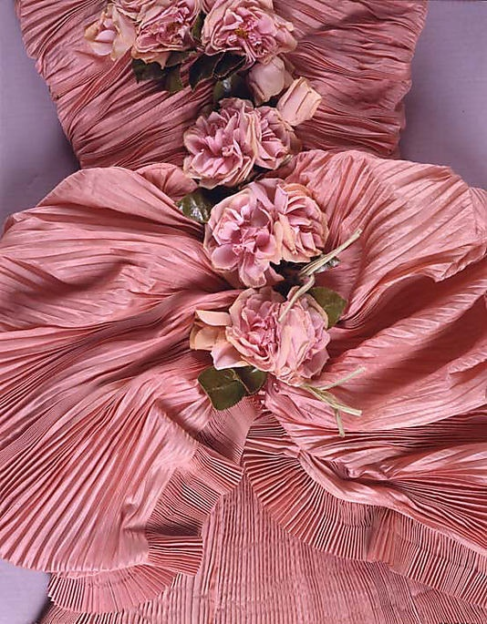 1948 Dress (Ball Gown), House of Balenciago (detail): Pink Flower, Met Museums, Dresses Details, Ball Gowns, Dresses Ball, Balenciaga Ballgown, Girls Fashion, Dusty Rose, Metropolitan Museums