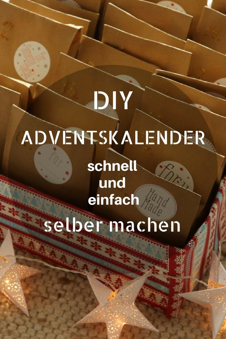 Schnell und einfach Adventskalender selber machen. In diesem Beitrag stelle ich dir eine kleine Anleitung für einen schnell gemachten und unkomplizierten Adventskalender vor.