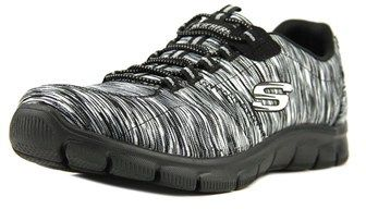 Skechers Empire-game On Women Round Toe Canvas Black Walking Shoe.