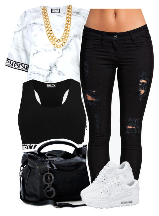 """Shade"" by lulu-foreva ❤ liked on Polyvore featuring NIKE, women's clothing, women's fashion, women, female, woman, misses and juniors"