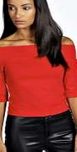 boohoo Half Sleeve Bardot Top - red azz19916 Wearing jersey has never been so chic with this off the shoulder top in the iconic bardot style. It looks great tucked into high rise disco pants with peep toe heels and a chain necklace . http://www.comparestoreprices.co.uk/womens-clothes/boohoo-half-sleeve-bardot-top--red-azz19916.asp