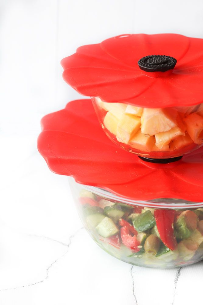Designed in France, the Charles Viancin Poppy Lids are superb for covering food when microwaving, refrigerating or even when entertaining outdoors! Made of food grade silicone and coming in a range of sizes, you'll be surprised how many uses they have - and how much you'll save on wrap and foil!