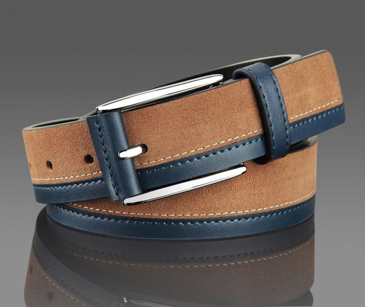 New Arrival Nubuck  Cowhide Genuine Leather Belts Casual Pin Buckle Men's leather Belts
