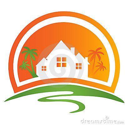 Houses logo Royalty Free Stock Photography