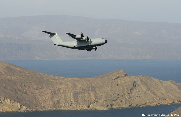 """First mission to Djibouti for the French Armée de l'Air's Airbus Military A400M Atlas strategic transport, 15 Feb 2014. The aircraft was """"Ville de Toulouse"""" MSN8 from Base aérienne 123 Orleans."""