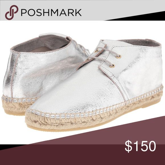 Robert Clergerie Silver Espadrilles sz38 Casual chic, these metallic leather chukka boots are a true closet staple. Lightly padded leather insole & rubber outsole robert clergerie Shoes Espadrilles