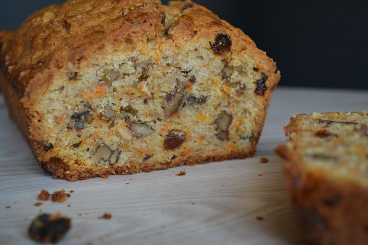 Carrot Cake with Walnuts and Raisins Made with Love